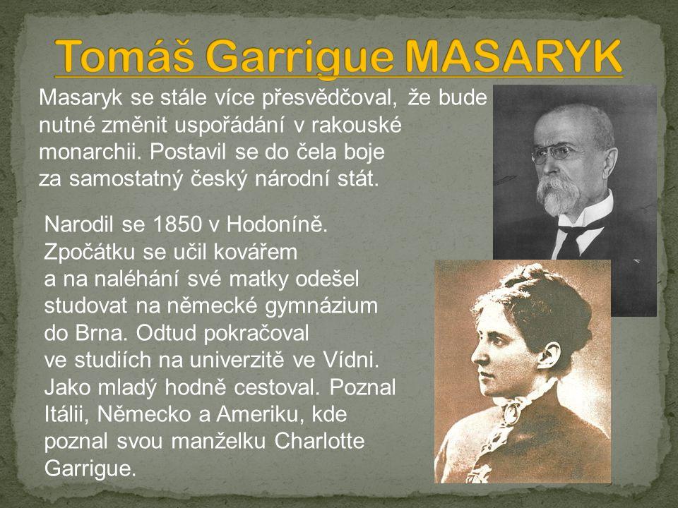 Masaryk se stále více přesvědčoval, že bude nutné změnit uspořádání v rakouské monarchii.