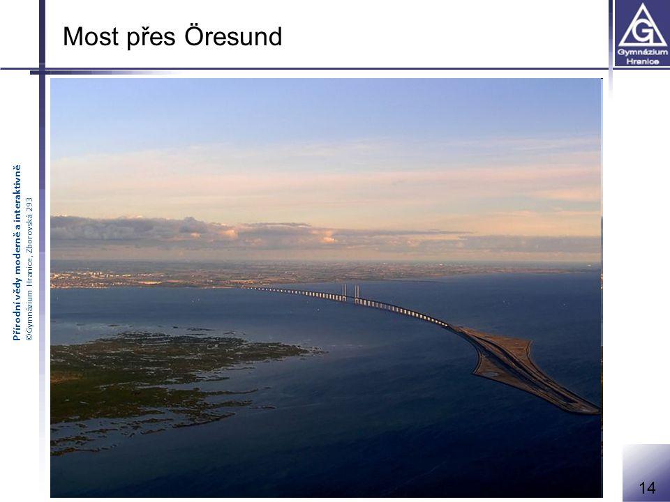 Přírodní vědy moderně a interaktivně ©Gymnázium Hranice, Zborovská 293 Most přes Öresund 14