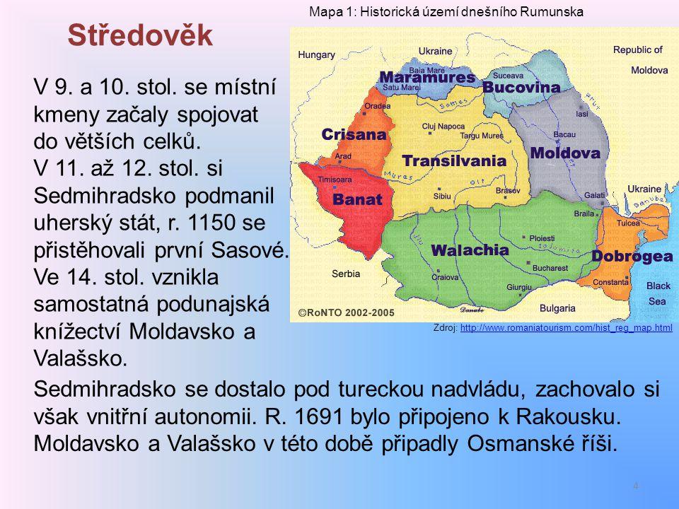 Středověk V 9. a 10. stol. se místní kmeny začaly spojovat do větších celků. V 11. až 12. stol. si Sedmihradsko podmanil uherský stát, r. 1150 se přis