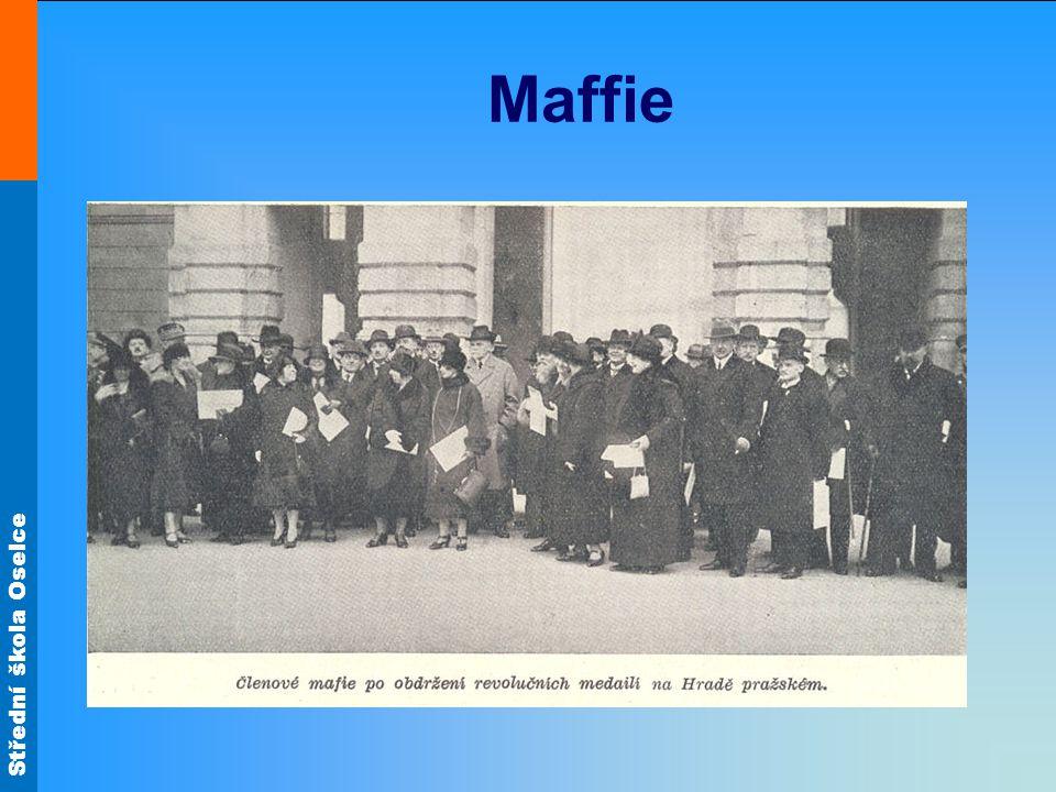 Střední škola Oselce Československo po 1.SV Mladá republika si nesla celou řadu problémů.