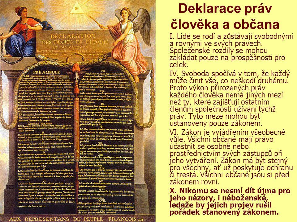 2 Křesťanská sociální etika.M. Martinek 20106 Deklarace práv člověka a občana I.