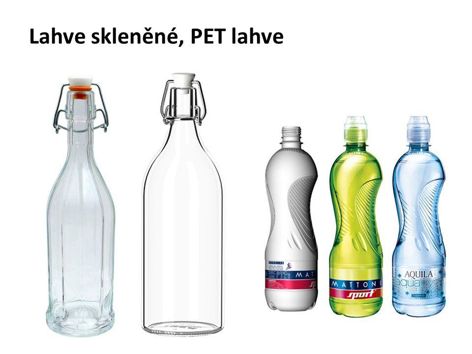 Lahve skleněné, PET lahve
