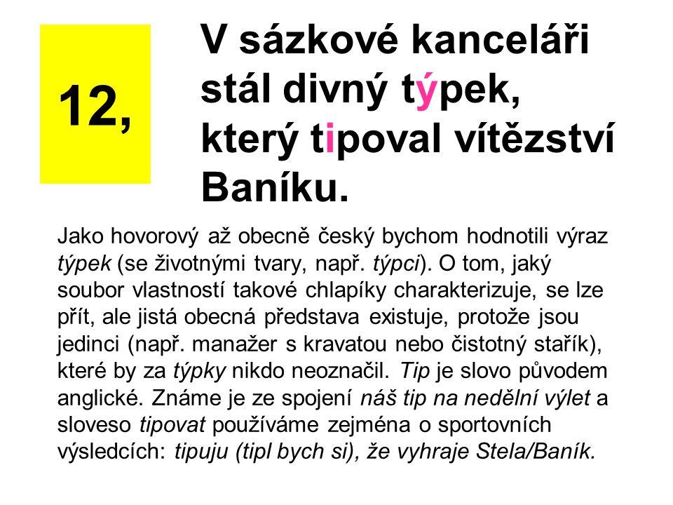 Jako hovorový až obecně český bychom hodnotili výraz týpek (se životnými tvary, např. týpci). O tom, jaký soubor vlastností takové chlapíky charakteri