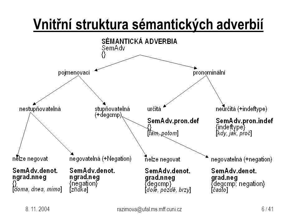 8.11. 2004razimova@ufal.ms.mff.cuni.cz 7 / 41 Lema vs.