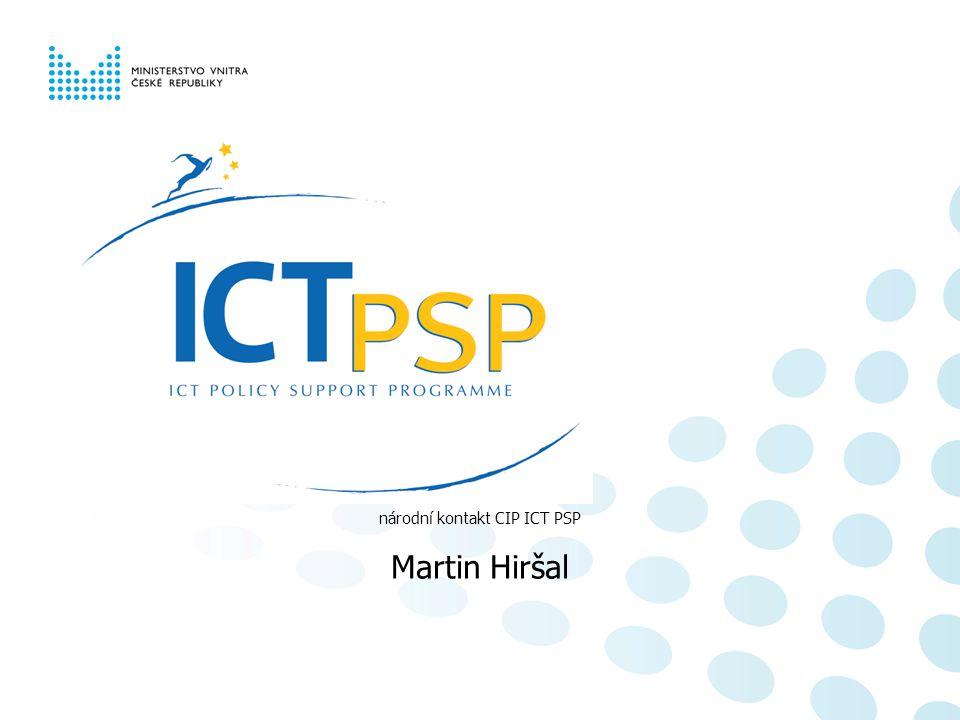národní kontakt CIP ICT PSP Martin Hiršal