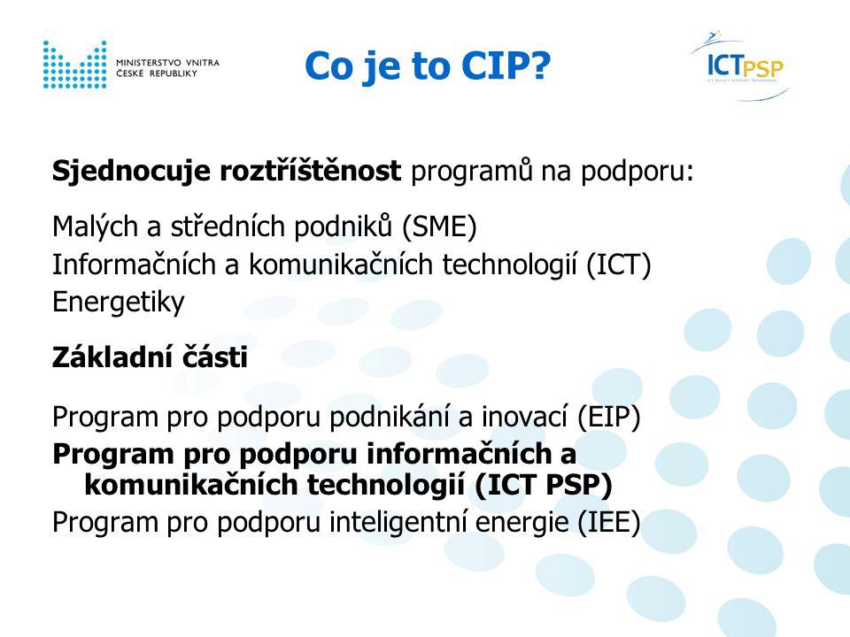 Národní informační den, 23. 6. 2008, Praha 2 / 6 Co je to CIP.
