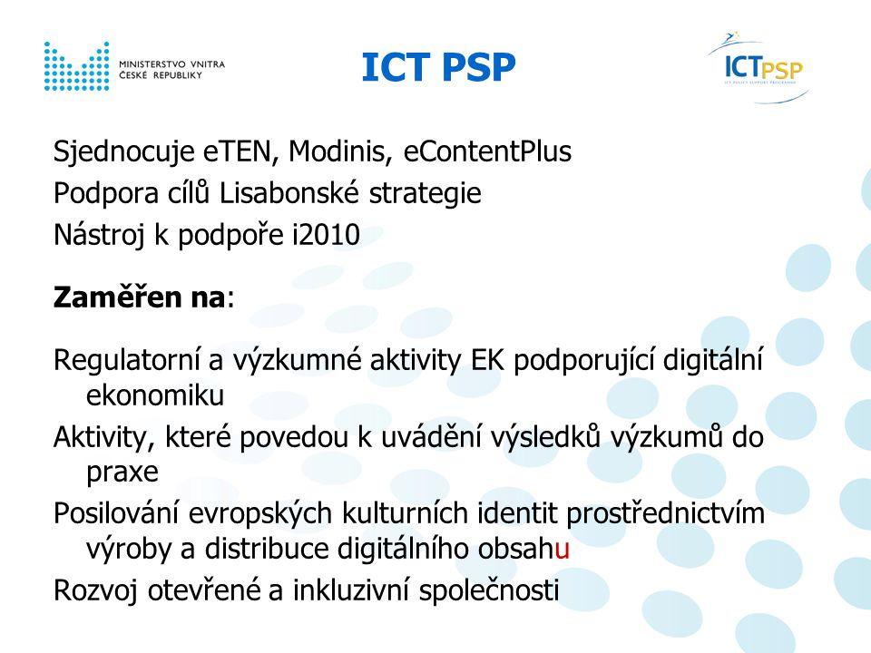 Národní informační den, 23. 6. 2008, Praha 15 / 6 ICT PSP – výsledky Úspěšnost 28 % - 39 %