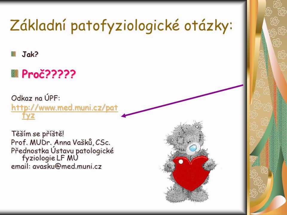 Základní patofyziologické otázky: Jak? Proč????? Odkaz na ÚPF: hhhh tttt tttt pppp :::: //// //// wwww wwww wwww.... mmmm eeee dddd.... mmmm uuuu nnnn