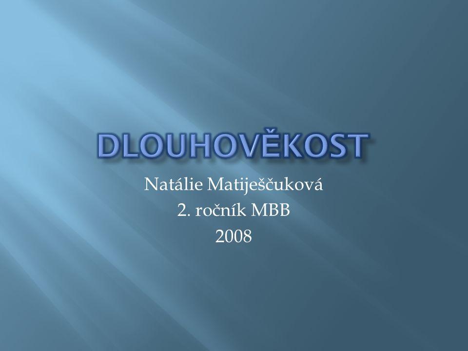 Natálie Matiješčuková 2. ročník MBB 2008