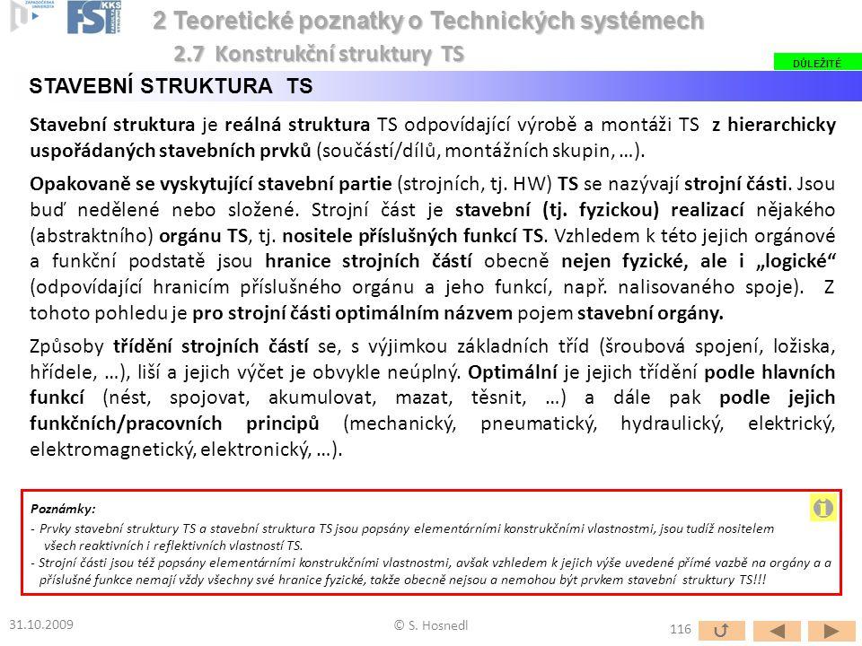 Stavební struktura je reálná struktura TS odpovídající výrobě a montáži TS z hierarchicky uspořádaných stavebních prvků (součástí/dílů, montážních sku