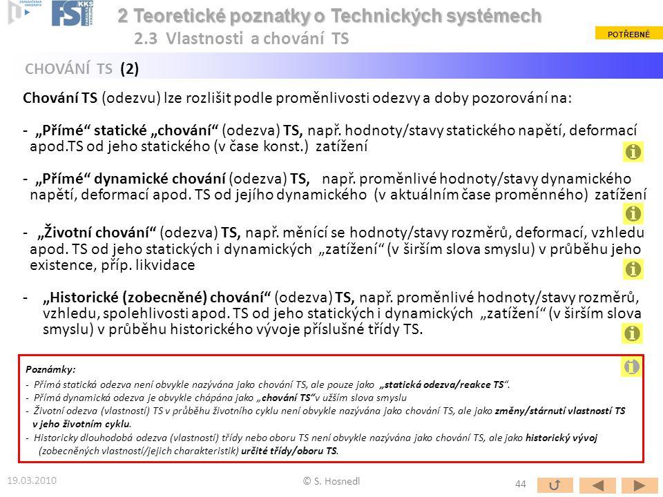 """Chování TS (odezvu) lze rozlišit podle proměnlivosti odezvy a doby pozorování na: - """"Přímé"""" statické """"chování"""" (odezva) TS, např. hodnoty/stavy static"""