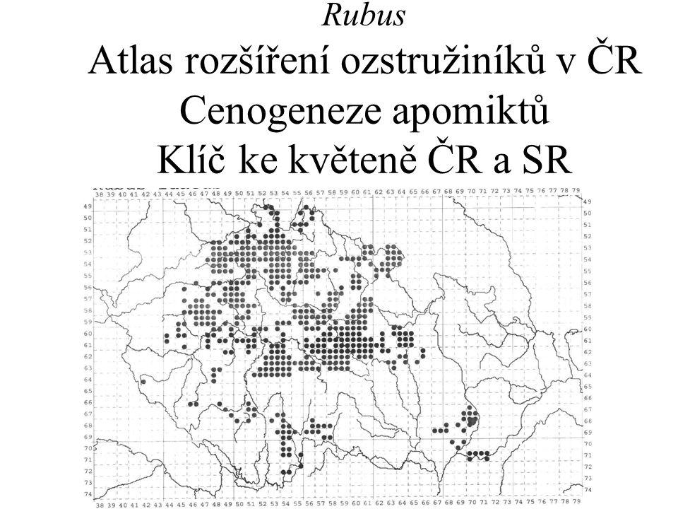 Rubus Atlas rozšíření ozstružiníků v ČR Cenogeneze apomiktů Klíč ke květeně ČR a SR