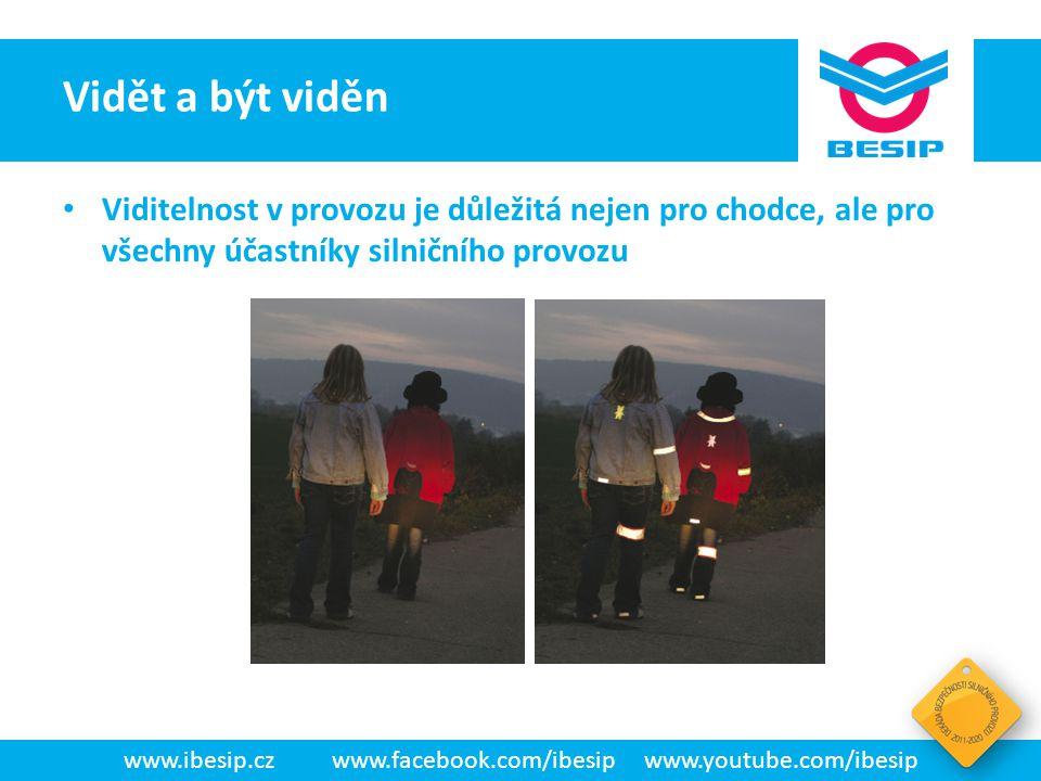 BESIP v ČR - realita www.ibesip.czwww.facebook.com/ibesipwww.youtube.com/ibesip Viditelnost v provozu je důležitá nejen pro chodce, ale pro všechny úč