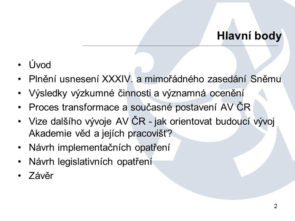 2 Úvod Plnění usnesení XXXIV.
