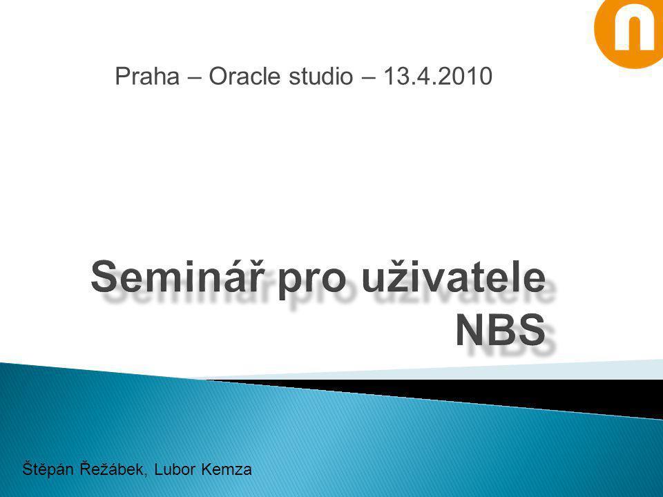 Praha – Oracle studio – 13.4.2010 Štěpán Řežábek, Lubor Kemza