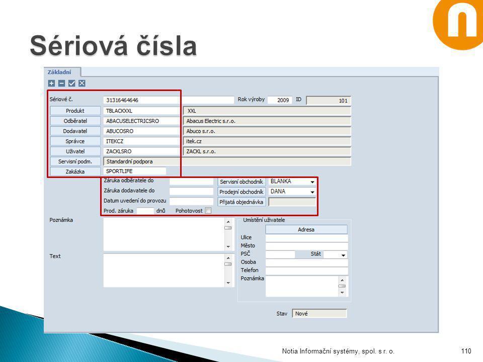 Notia Informační systémy, spol. s r. o.110