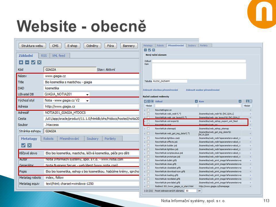 Notia Informační systémy, spol. s r. o.113