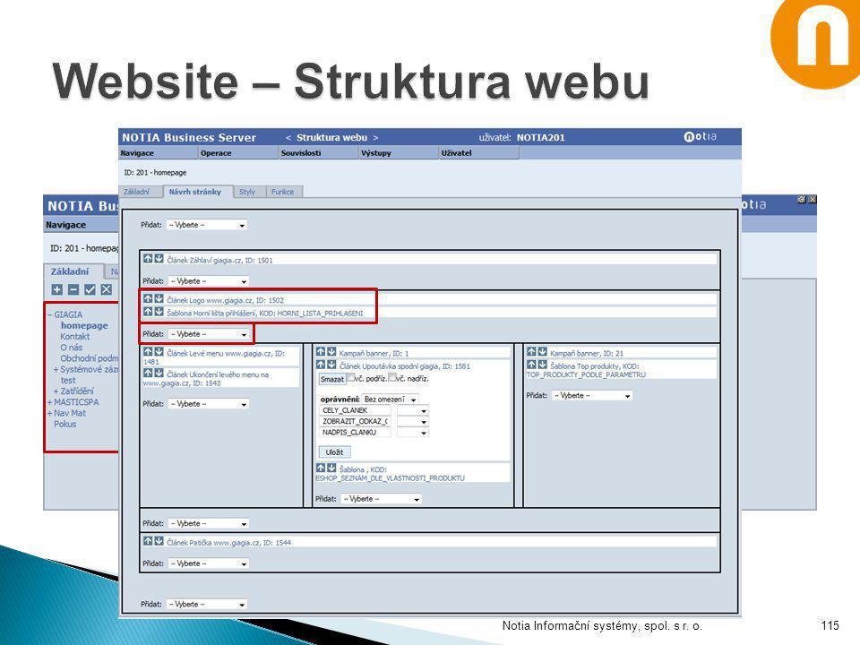 Notia Informační systémy, spol. s r. o.115