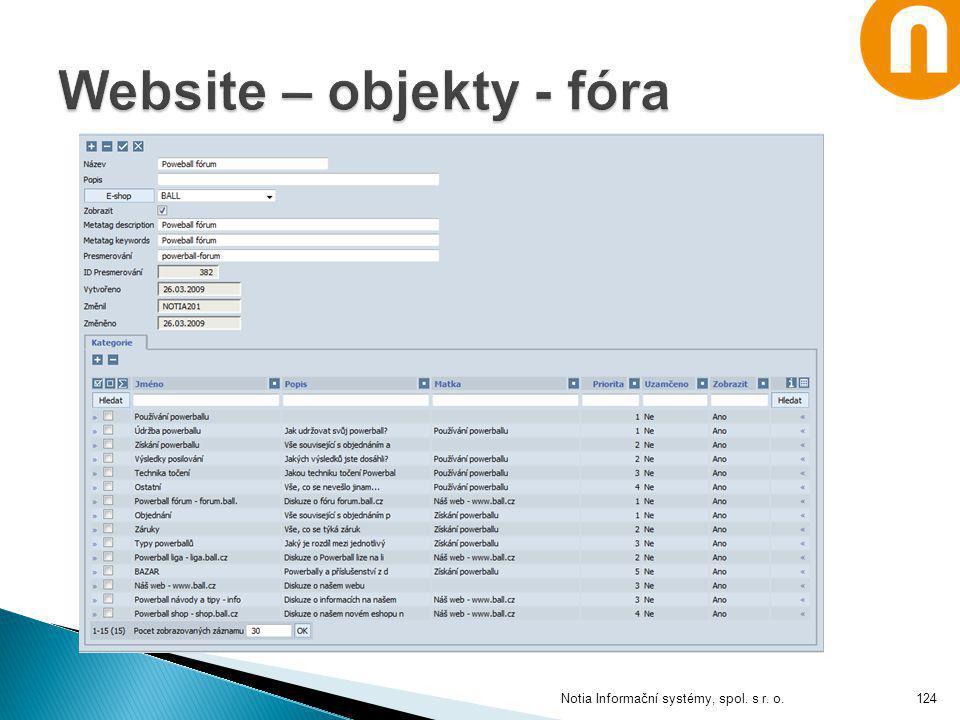 Notia Informační systémy, spol. s r. o.124