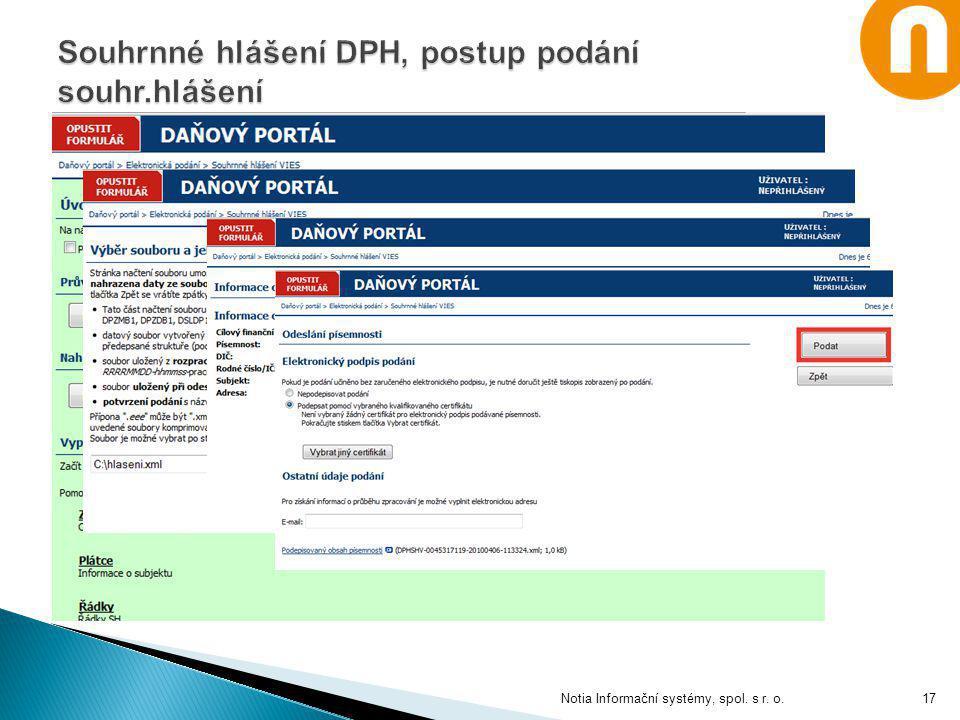 Notia Informační systémy, spol. s r. o.17