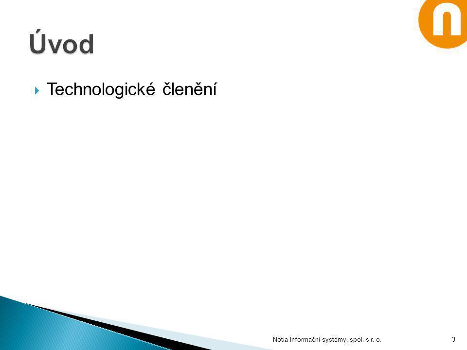  Technologické členění Notia Informační systémy, spol. s r. o.3
