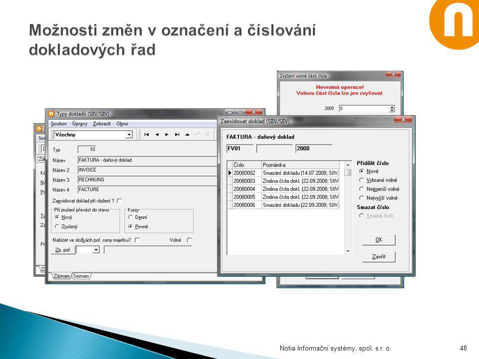 Notia Informační systémy, spol. s r. o.48