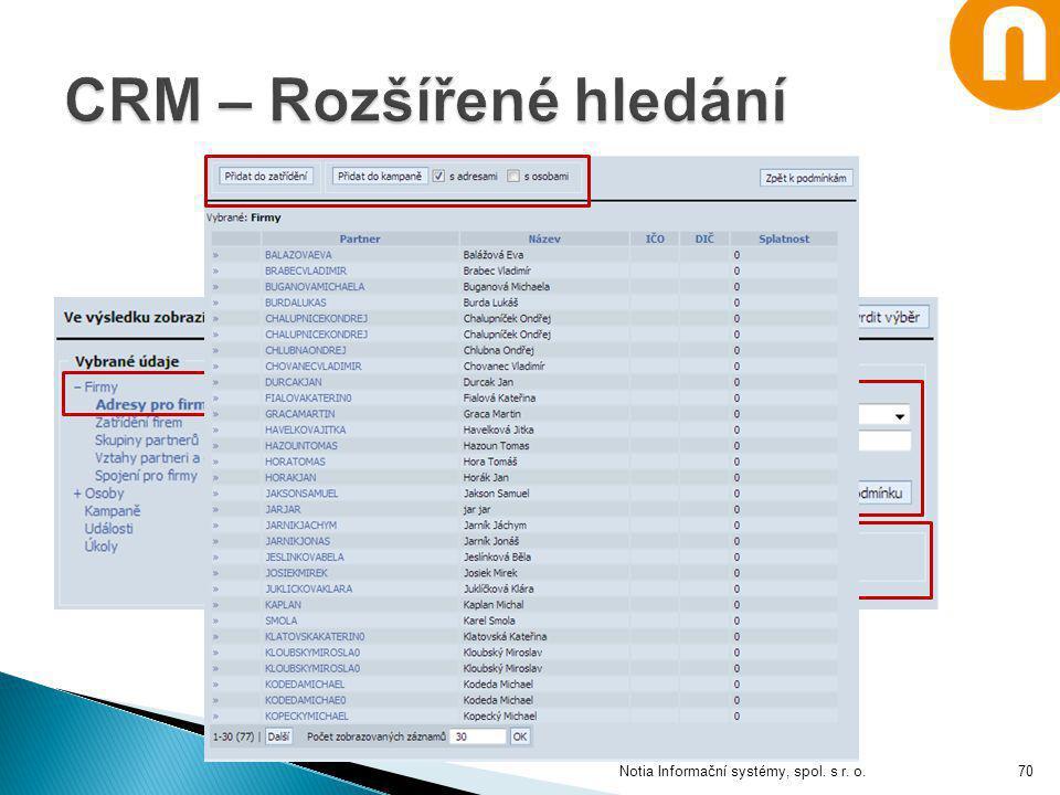 Notia Informační systémy, spol. s r. o.70