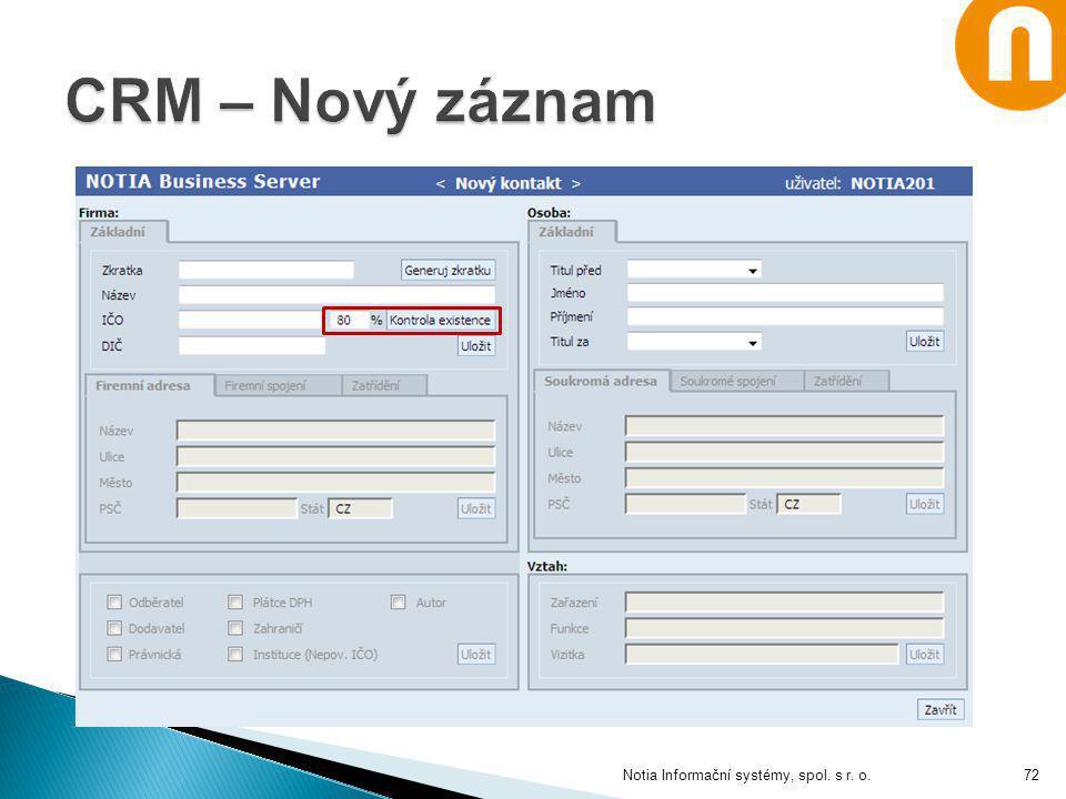 Notia Informační systémy, spol. s r. o.72