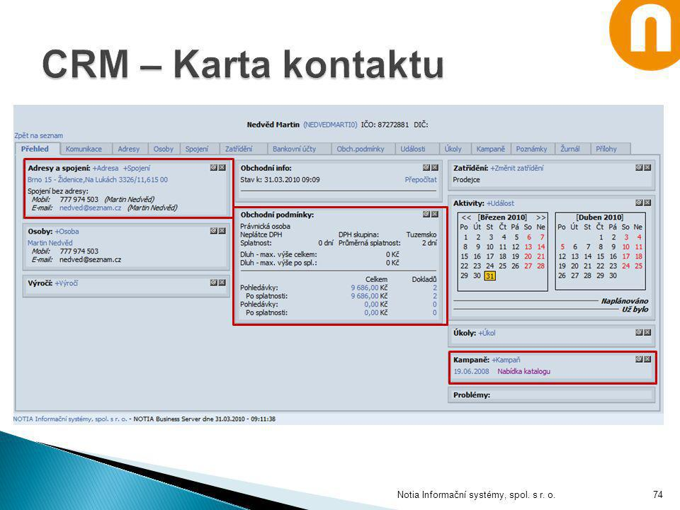 Notia Informační systémy, spol. s r. o.74