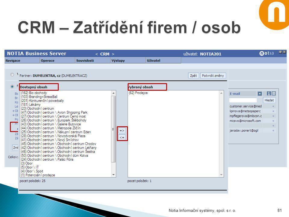 Notia Informační systémy, spol. s r. o.81