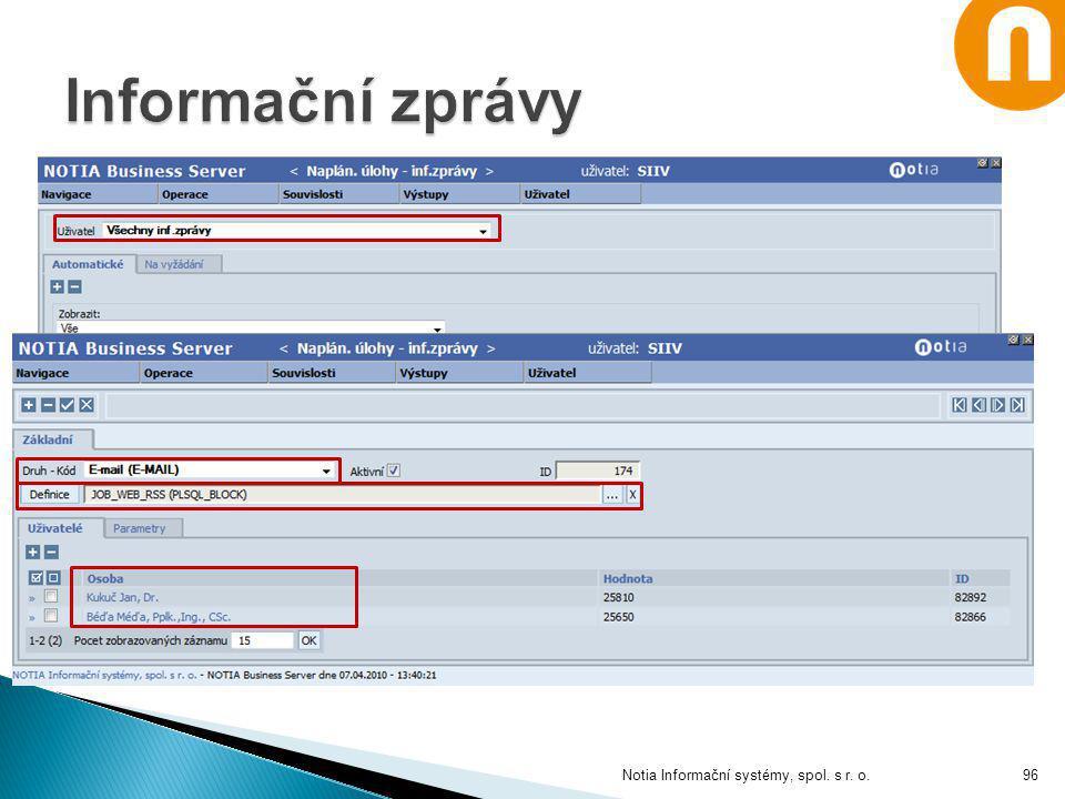 Notia Informační systémy, spol. s r. o.96
