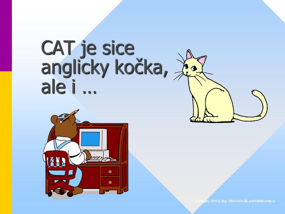 CAT je sice anglicky kočka, ale i … Copyright, 1999 © Ing. Otto Pacholík, pacholik@comp.cz