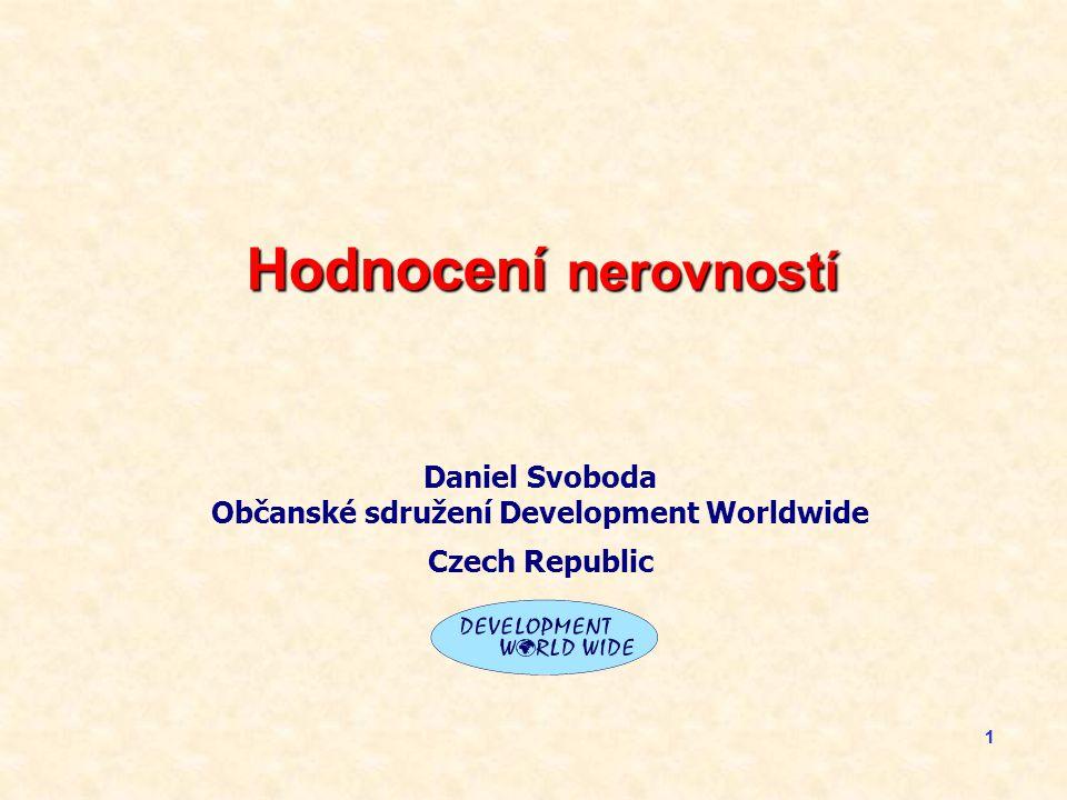 11 Hodnocení nerovností Daniel Svoboda Občanské sdružení Development Worldwide Czech Republic