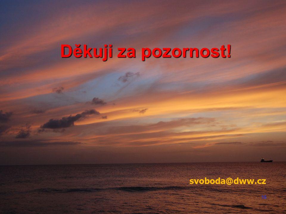 15 Děkuji za pozornost! svoboda@dww.cz