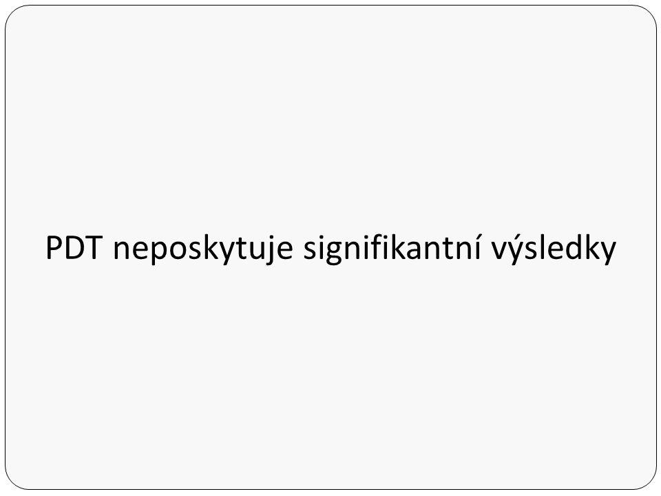 PDT neposkytuje signifikantní výsledky