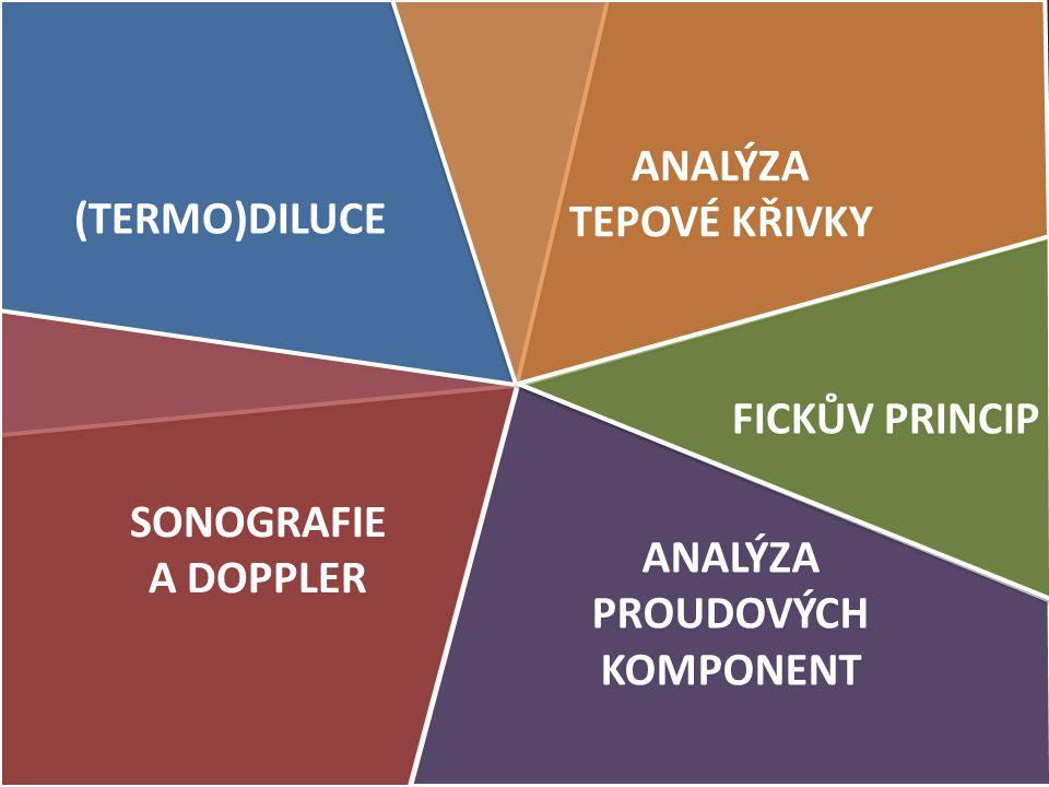(TERMO)DILUCE ANALÝZA TEPOVÉ KŘIVKY ANALÝZA TEPOVÉ KŘIVKY SONOGRAFIE A DOPPLER SONOGRAFIE A DOPPLER ANALÝZA PROUDOVÝCH KOMPONENT ANALÝZA PROUDOVÝCH KO