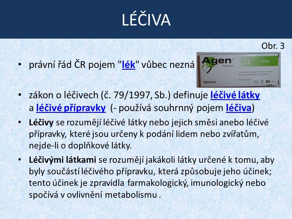LÉČIVA právní řád ČR pojem