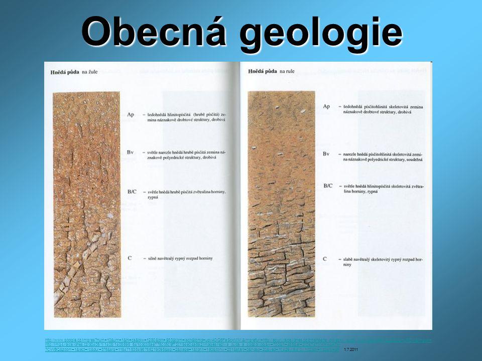 Obecná geologie http://www.google.cz/imgres?num=10&um=1&hl=cs&biw=1280&bih=933&tbm=isch&tbnid=uqv4OQ6FaSckMM:&imgrefurl=http://apuri.rajce.idnes.cz/zmensene_obrazky_pudni_typy/&docid=7i4jLQNzQHuPCM&imgurl= http://img4.rajce.idnes.cz/d0405/1/1408/1408696_641bdcb8ae775cb5c9f72c194e04a892/images/reziva_puda_a_podzol.jpg&w=700&h=485&ei=2rDsT4TYIKmk4ATk- 7CWBQ&zoom=1&iact=rc&dur=376&sig=116471538496756219095&sqi=2&page=1&tbnh=160&tbnw=231&start=0&ndsp=20&ved=1t:429,r:6,s:0,i:102&tx=132&ty=45http://www.google.cz/imgres?num=10&um=1&hl=cs&biw=1280&bih=933&tbm=isch&tbnid=uqv4OQ6FaSckMM:&imgrefurl=http://apuri.rajce.idnes.cz/zmensene_obrazky_pudni_typy/&docid=7i4jLQNzQHuPCM&imgurl= http://img4.rajce.idnes.cz/d0405/1/1408/1408696_641bdcb8ae775cb5c9f72c194e04a892/images/reziva_puda_a_podzol.jpg&w=700&h=485&ei=2rDsT4TYIKmk4ATk- 7CWBQ&zoom=1&iact=rc&dur=376&sig=116471538496756219095&sqi=2&page=1&tbnh=160&tbnw=231&start=0&ndsp=20&ved=1t:429,r:6,s:0,i:102&tx=132&ty=45 1.7.2011