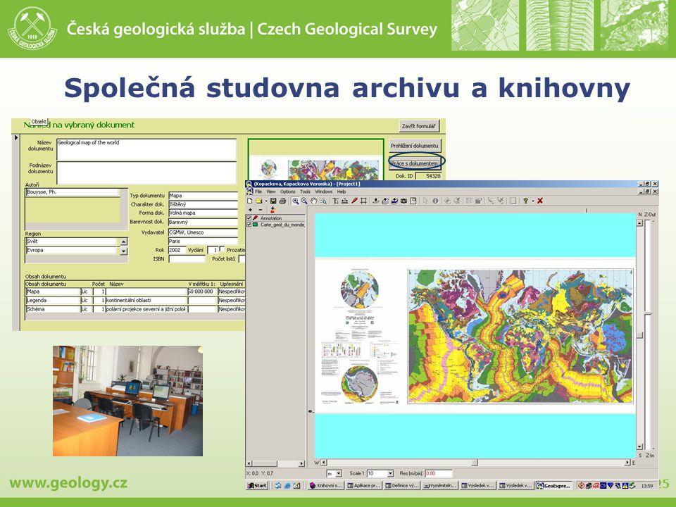 25 Společná studovna archivu a knihovny