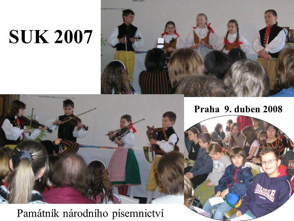 SUK 2007 Památník národního písemnictví Praha 9. duben 2008