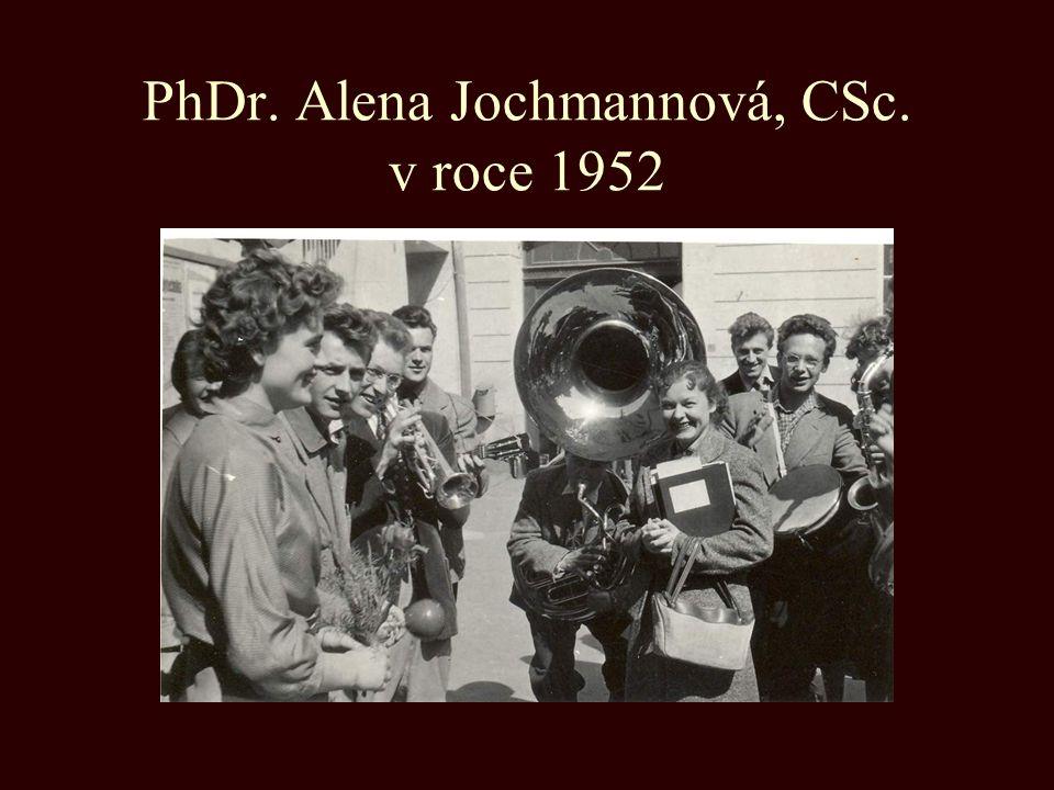PhDr. Alena Jochmannová, CSc. v roce 1952