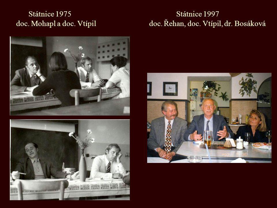 Státnice 1975 Státnice 1997 doc. Mohapl a doc. Vtípil doc. Řehan, doc. Vtípil, dr. Bosáková