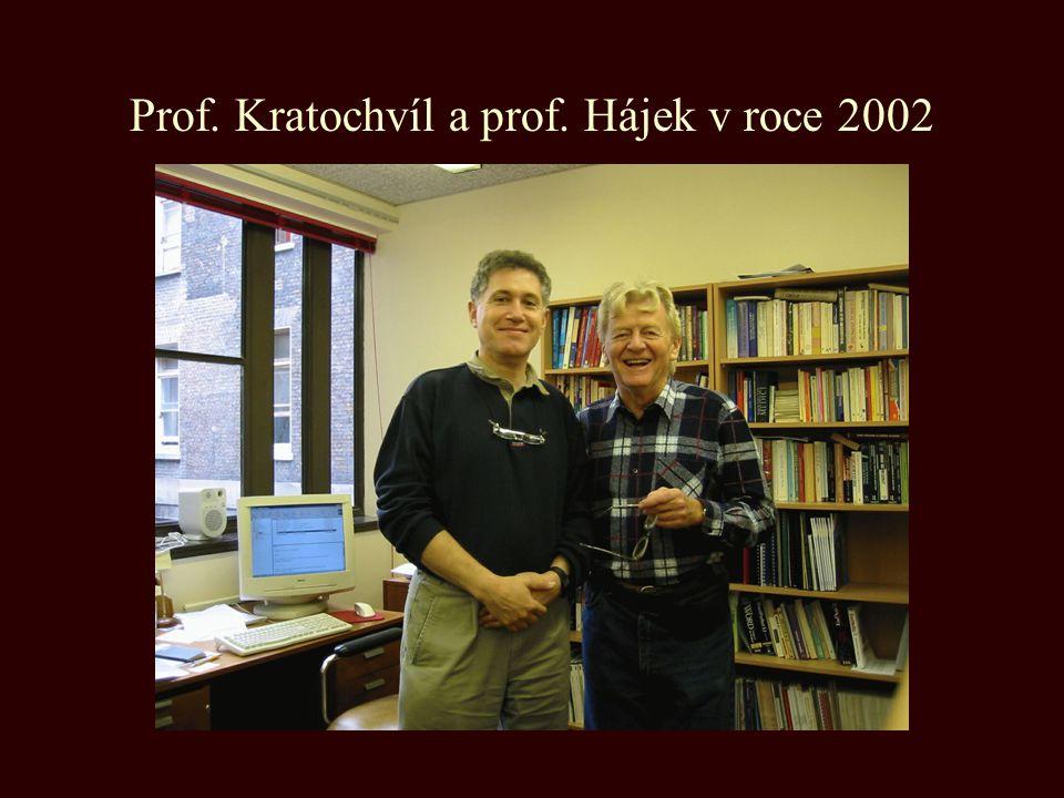 Prof. Kratochvíl a prof. Hájek v roce 2002