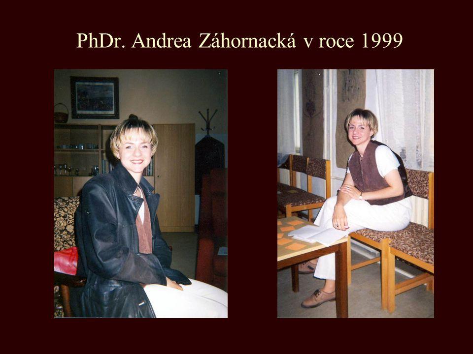 PhDr. Andrea Záhornacká v roce 1999