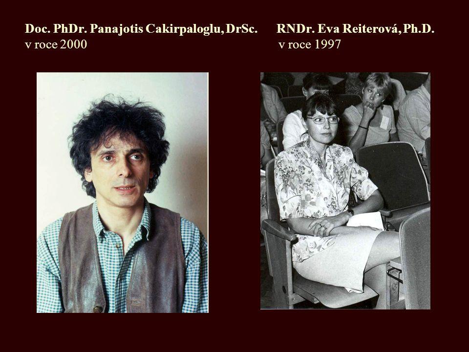 Doc. PhDr. Panajotis Cakirpaloglu, DrSc. RNDr. Eva Reiterová, Ph.D. v roce 2000 v roce 1997