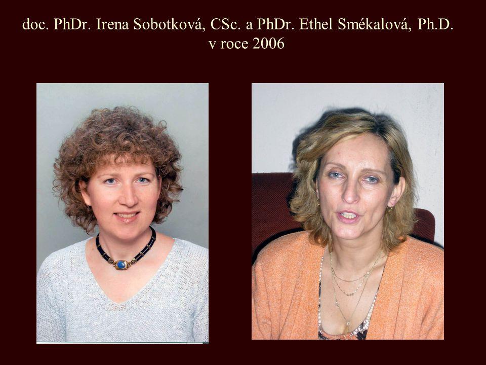 doc. PhDr. Irena Sobotková, CSc. a PhDr. Ethel Smékalová, Ph.D. v roce 2006
