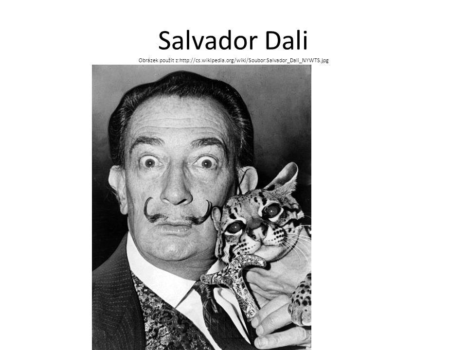 Salvador Dali Obrázek použit z:http://cs.wikipedia.org/wiki/Soubor:Salvador_Dali_NYWTS.jpg