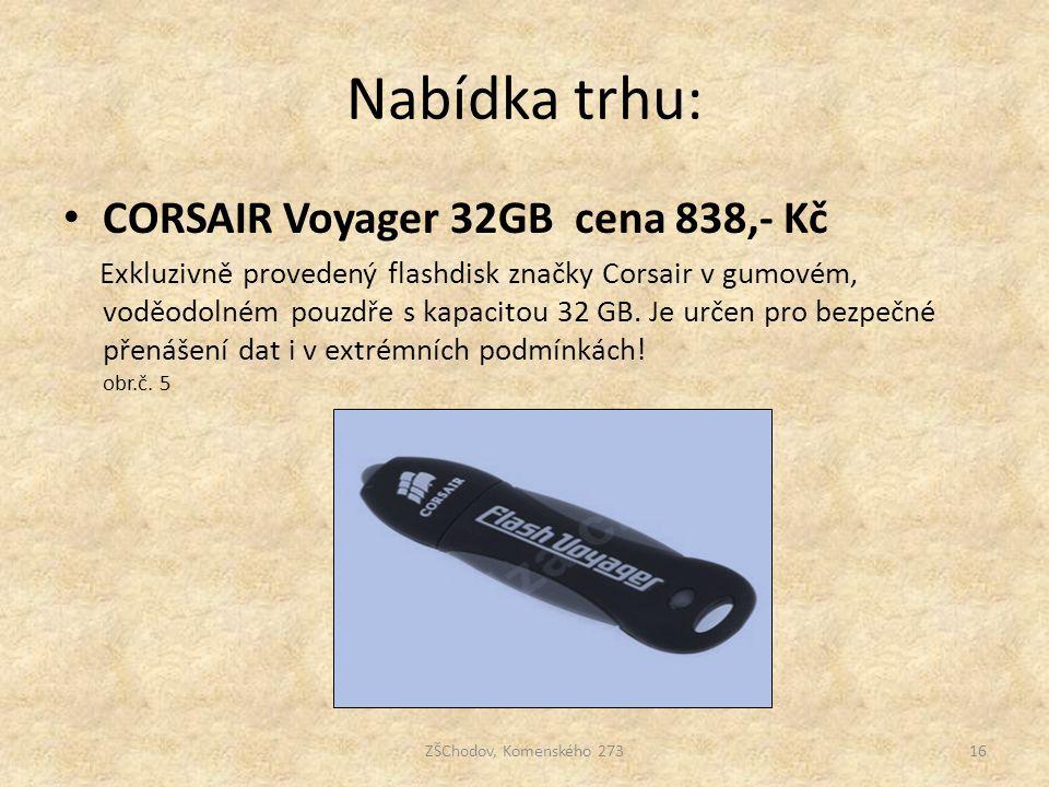 Nabídka trhu: CORSAIR Voyager 32GB cena 838,- Kč Exkluzivně provedený flashdisk značky Corsair v gumovém, voděodolném pouzdře s kapacitou 32 GB. Je ur