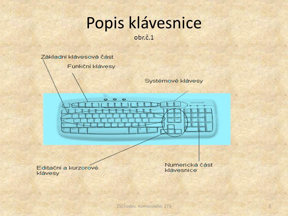 Popis klávesnice obr.č.1 ZŠChodov, Komenského 2733