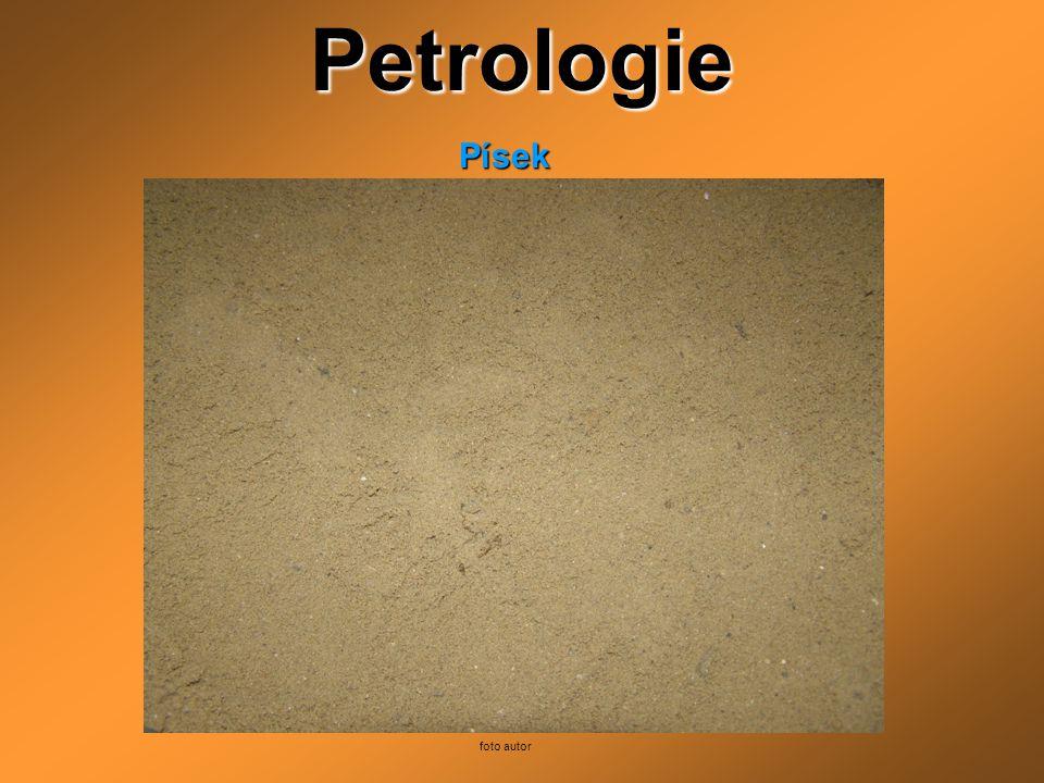 PetrologiePísek foto autor